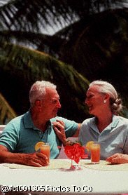 Mature couple/tropical setting